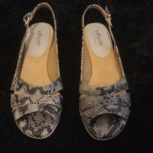 Softspot  faux snake skin heels size 7